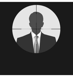 Sniper scope crosshair man silhouette vector