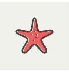 Starfish thin line icon vector