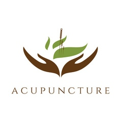 Template of acupunture theme vector