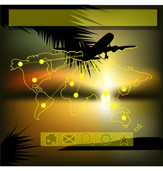 template with aircraft vector image vector image