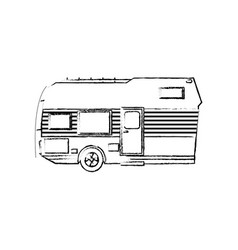 trailer camping transport recreation tourism vector image
