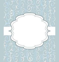 Vintage frame background invitation ornament vector