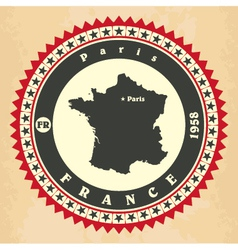 Vintage label-sticker cards of France vector image vector image