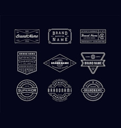 Vintage logo insignia badge set 3 vector