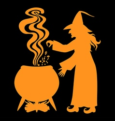 Witch pot black vector