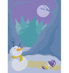 winter back vector image