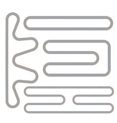 Simple race track shape set vector