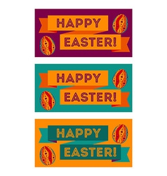 Set of colorful Easter banners vector image