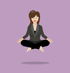 Woman in meditation vector