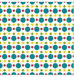 colored polka dot seamless pattern vector image