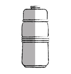 water bottle gym icon vector image
