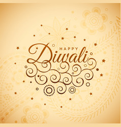 Amazing diwali background with floral decoration vector
