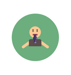 Stylish icon in color circle people nausea vector