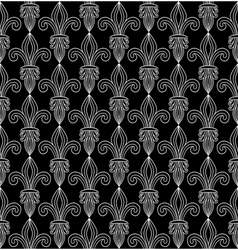Royal lilies contrast pattern vector