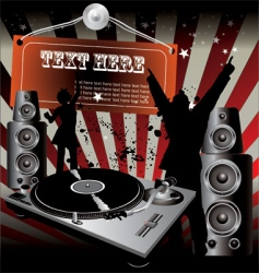 Party dj retro music vector
