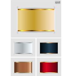 set of metallic labels vector image