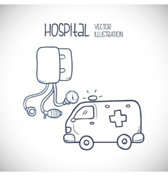 Hospital related icons vector