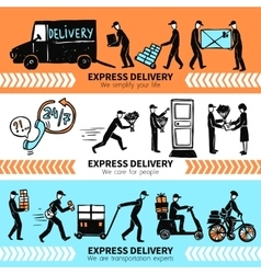 Delivery banner set vector