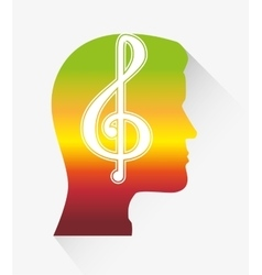 Music melody notes vector