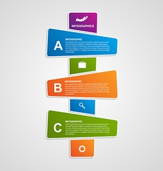 Abstract colorful infographic design elements vector