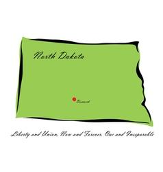 State of North Dakota vector image