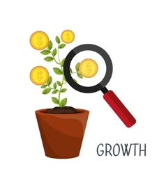Profitable growth design vector