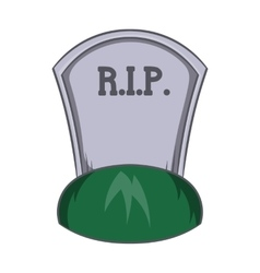 Grave rip icon cartoon style vector