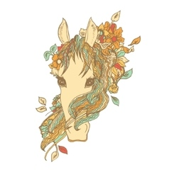 Abstract colored horse head print vector image vector image