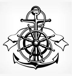 anchor symbol badge on white vector image vector image