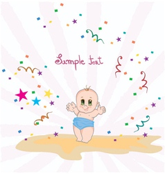 Baby with rays vector