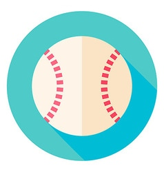Baseball Ball Circle Icon vector image vector image