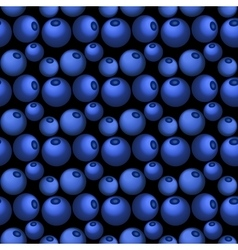 Blueberry seamless pattern in flat style vector image