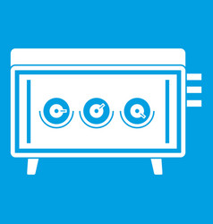 Cd changer icon white vector