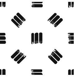 Cinnamon pattern seamless black vector
