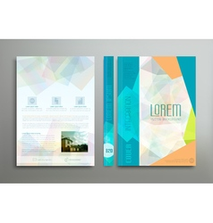 Color template cover for business vector