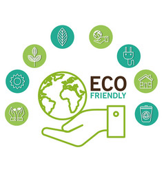 eco friendly design vector image