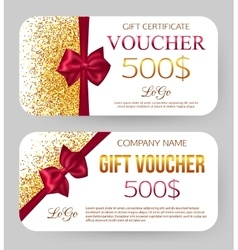 Golden design for gift certificate coupon card vector