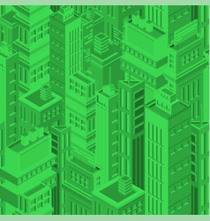 green futuristic seamless pattern with isometric vector image vector image