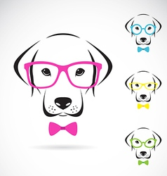 Images of dog labrador wearing glasses vector