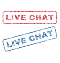 Live chat textile stamps vector