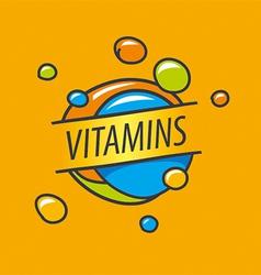 Logo vitamins colorful bubbles vector