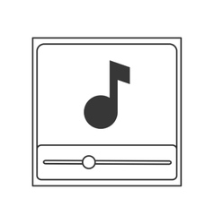 music note in player icon vector image