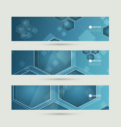 Set of abstract backgrounds with glossy luminous vector image