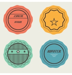 Set of Retro Stamps and Badges vector image