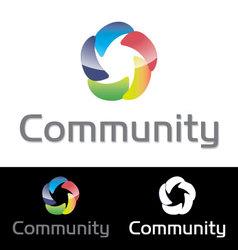 Social media community icon logo vector