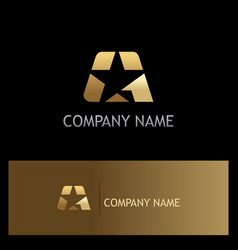 star gold logo vector image