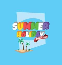 Summer holiday retro cartoon theme vector