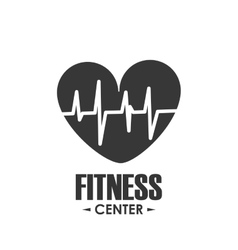 Heart pulse icon fitness design graphic vector