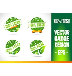 100 fresh badge logo vector
