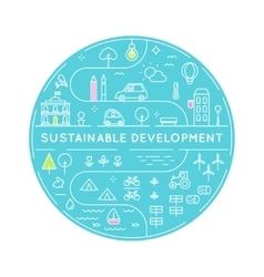 Sustainable Development and Sustainable Living vector image